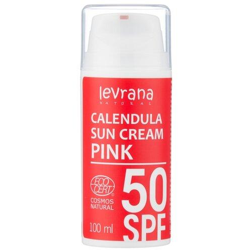 Купить Levrana Солнцезащитный крем Календула Pink SPF 50 100 мл
