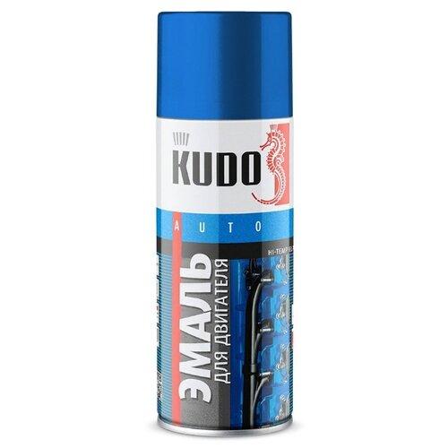 KUDO аэрозольная Эмаль для двигателя 520 мл синий