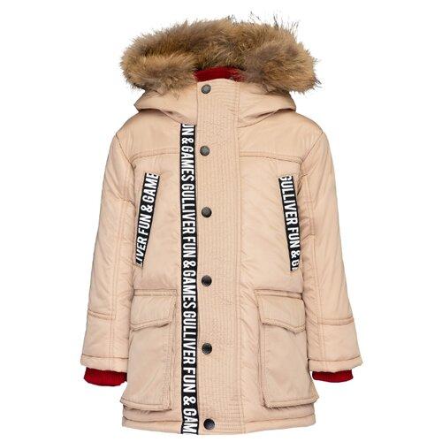 Купить Полупальто Gulliver размер 98, бежевый, Пальто и плащи