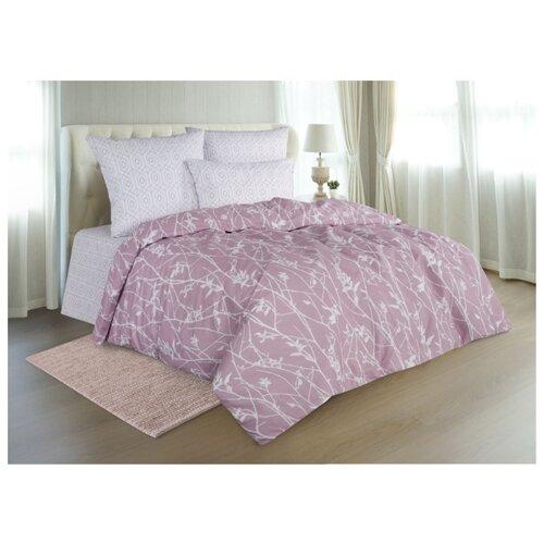 Постельное белье 2-спальное макси Guten Morgen 907 70х70 см, поплин серый/розовый одеяло guten morgen поплин 140х205 см