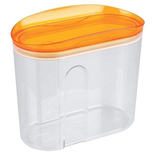 Phibo Ёмкость для сыпучих продуктов Master safe (1 л) оранжевый/прозрачный