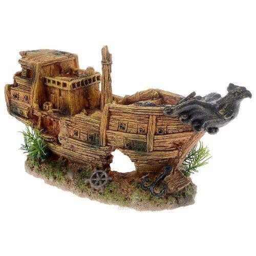 Грот BARBUS Лодка Gold Decor 016 32x16x13 см коричневый