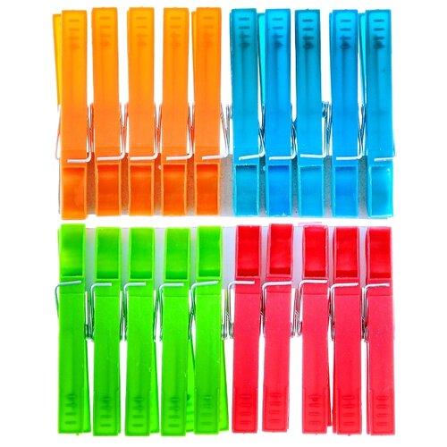 York прищепки пластиковые разноцветные 20 шт. разноцветные