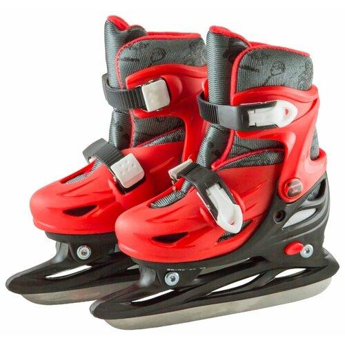 Детские прогулочные коньки ATEMI AKSK-17.04 Snow Boy для мальчиков, черный/красный р. 30-33
