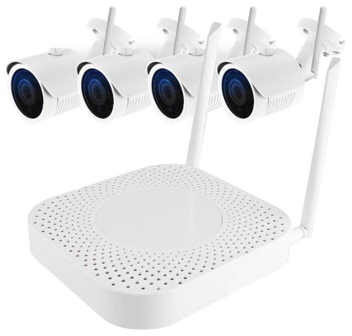 Комплект видеонаблюдения Ginzzu HK-440W 4 камеры