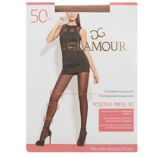 Колготки Glamour Positive Press 50 den, размер 4-L, miele (бежевый) колготки glamour prestige 40 miele