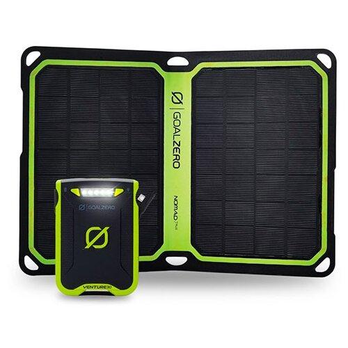 Фото - Аккумулятор Goal Zero Venture 30 + Nomad 7 Plus kit, черный/зеленый goal