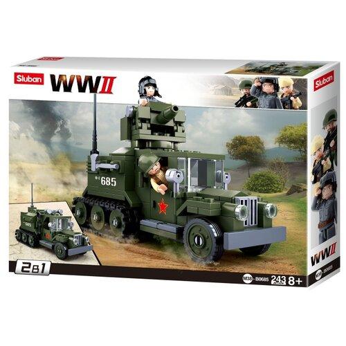 Купить Конструктор SLUBAN WW2 M38-B0685 Грузовик, Конструкторы