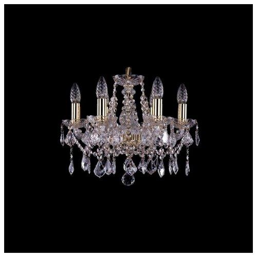 Люстра Bohemia Ivele Crystal 1413 1413/6/141/G/Leafs, E14, 240 Вт люстра bohemia ivele crystal 1413 1413 6 141 g leafs e14 240 вт