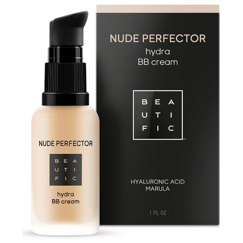 BEAUTIFIC BB крем Nude Perfector тонирующий с гиалуроновой кислотой, 30 мл, оттенок: 02 теплый бежевый