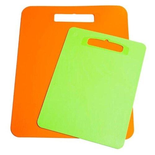 Набор разделочных досок ПОЛИМЕРБЫТ Комфорт 80506 (2 шт.) зеленый/оранжевый