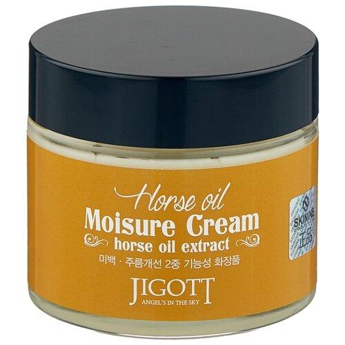 Jigott Horse Oil Moisure Cream Увлажняющий крем для лица с лошадиным маслом, 70 мл