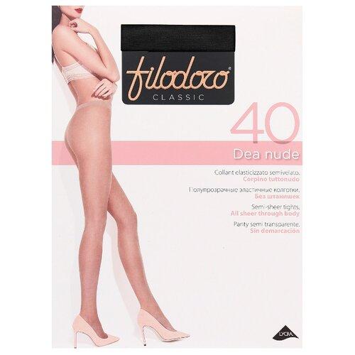 колготки женские filodoro classic cotton wool 100 цвет nero черный c113560cl размер 4 46 48 Колготки Filodoro Classic Dea Nude 40 den, размер 4-L, nero (черный)