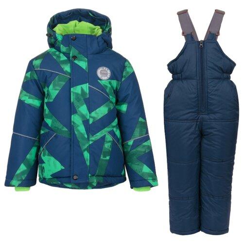 Купить Комплект с полукомбинезоном Fun time FW19BK37 размер 104, синий/зеленый, Комплекты верхней одежды