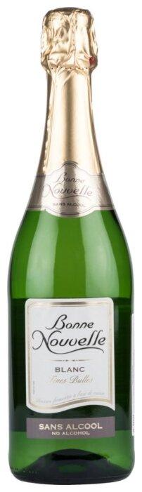 Вино игристое безалкогольное белое Bonne nouvelle Blanc 0,75 л