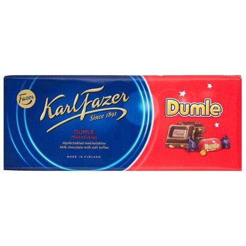Шоколад Fazer Dumle молочный с начинкой из мягкого сливочного ириса 30% какао, 200 г