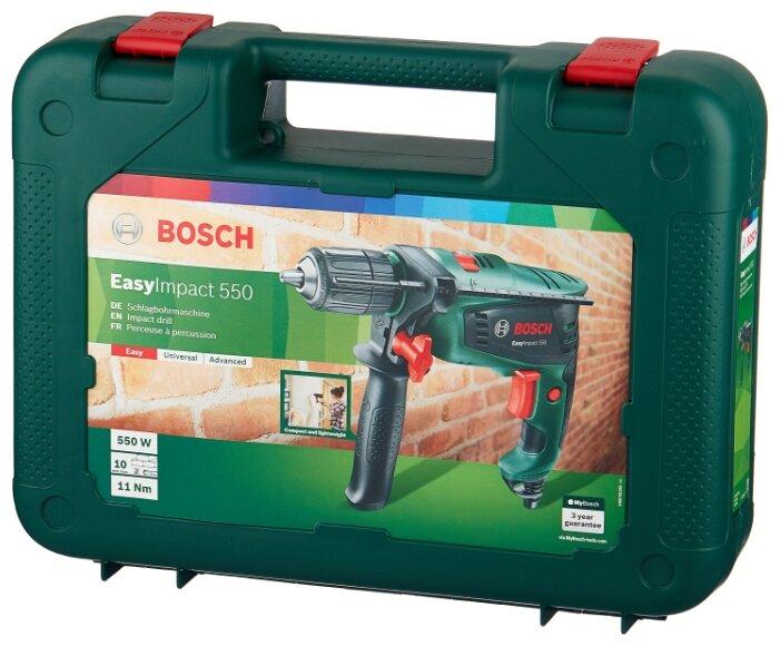 Дрель ударная BOSCH EasyImpact 550 Case 550 Вт