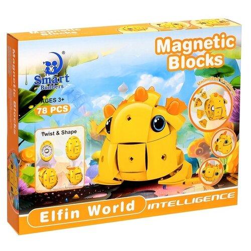 Магнитный конструктор Smart Builders Magnetic Blocks 306 Мир эльфов library builders
