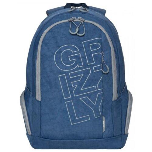 Рюкзак Grizzly RU-934-7/1 21.5 (джинсовый) рюкзак городской grizzly цвет серый 25 л ru 614 1 4