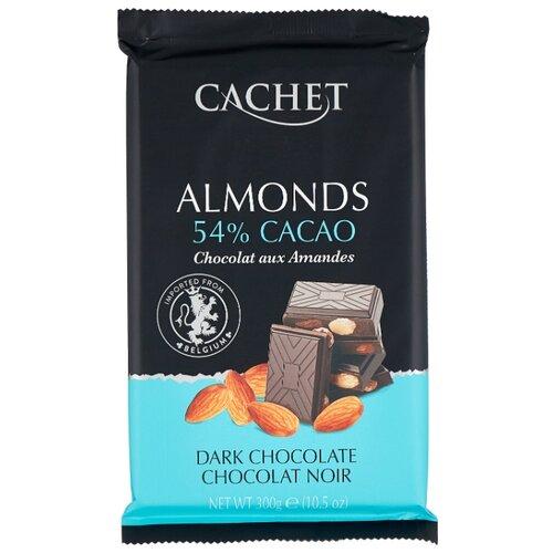 Шоколад Cachet темный с миндалем 54 %, 300 г