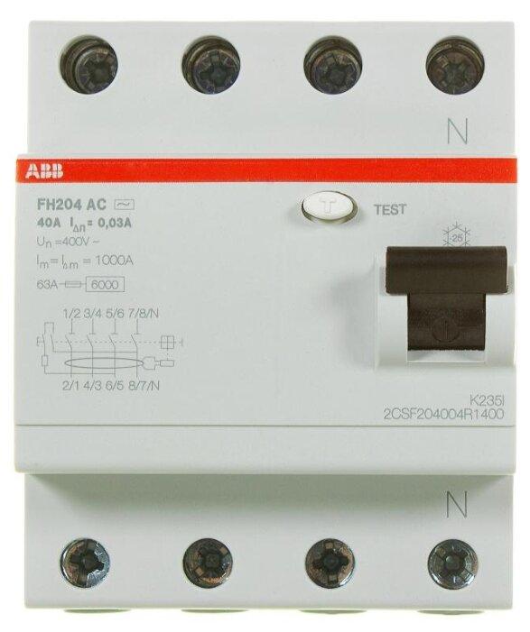 УЗО ABB 30мА тип AC FH204AC (2CSF204004R) 4 полюса