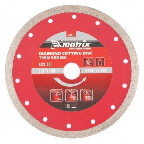 Диск алмазный отрезной 180x2.2x22.2 matrix 730817 1 шт. диск отрезной алмазный matrix professional 73180