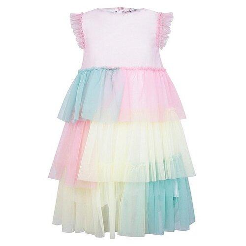 Платье Il Gufo размер 92, разноцветный/розовый