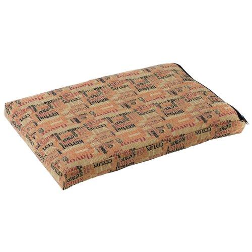 Лежак для собак и кошек Зоо Фортуна Чай №3 95х60х8 см бежевый/коричневый ковролин фортуна 04