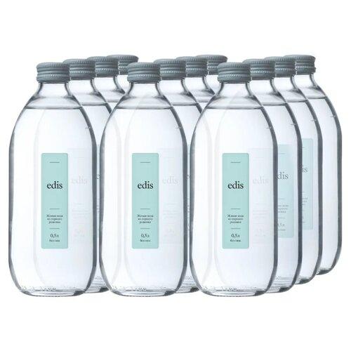 Вода питьевая Edis горная родниковая негазированная, стекло, 12 шт. по 0.5 л 4m родниковая вода 00 03281