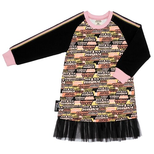 Платье lucky child размер 28 (92-98), многоцветный худи lucky child размер 28 92 98 фиолетовый
