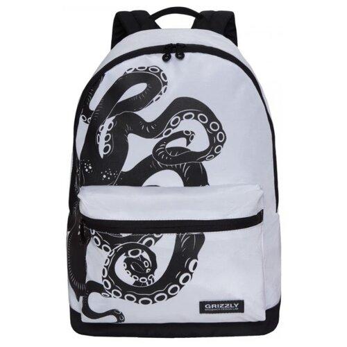 Рюкзак Grizzly RQ-007-5/2 20 (белый-черный) grizzly rq 007 8 рюкзак 2 синий