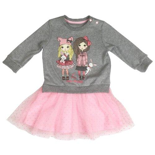 Платье Sonia Kids размер 92, серый/розовый