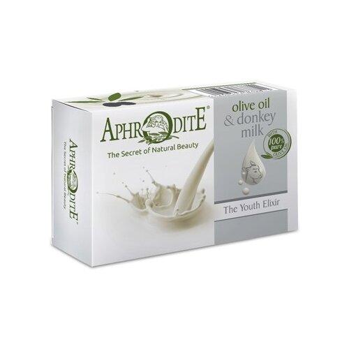 цена на Мыло кусковое Aphrodite Оливковое с молоком ослиц, 100 г