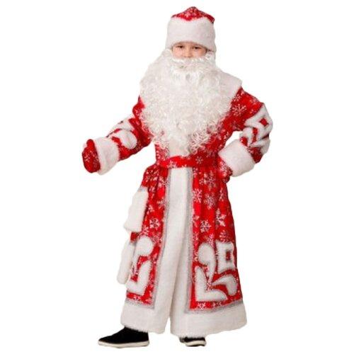 Купить Костюм Батик Дед Мороз Узор (1922), красный/белый, размер 134, Карнавальные костюмы
