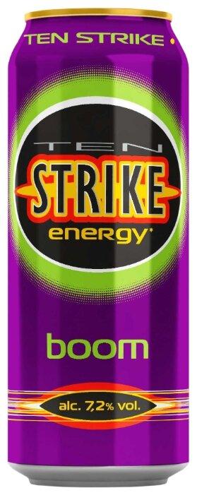 Слабоалкогольный напиток тонизирующий Ten Strike Boom 0.45 л