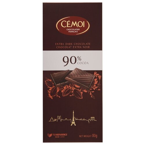 Шоколад Cemoi Горький 90% какао, 80 г