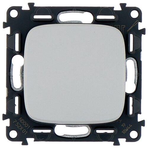 Выключатель 1-полюсный Legrand Valena Allure 752901,10А, алюминиевый выключатель 2х1 полюсный legrand valena allure 752905 10а алюминиевый