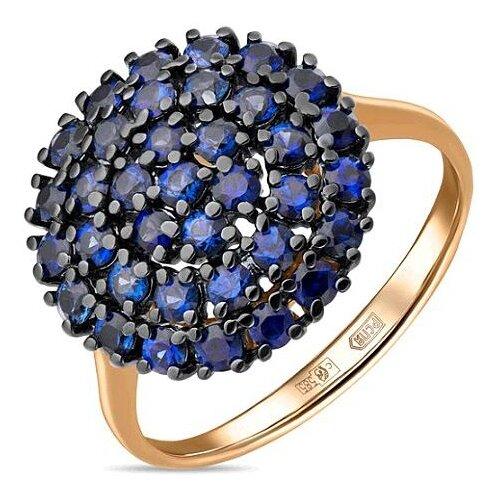 ЛУКАС Кольцо с 36 сапфирами из красного золота R01-C-33701-SA, размер 16.5