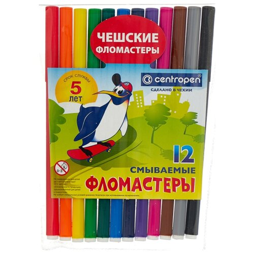 Купить Centropen Набор фломастеров, 12 шт. (7790/12), Фломастеры