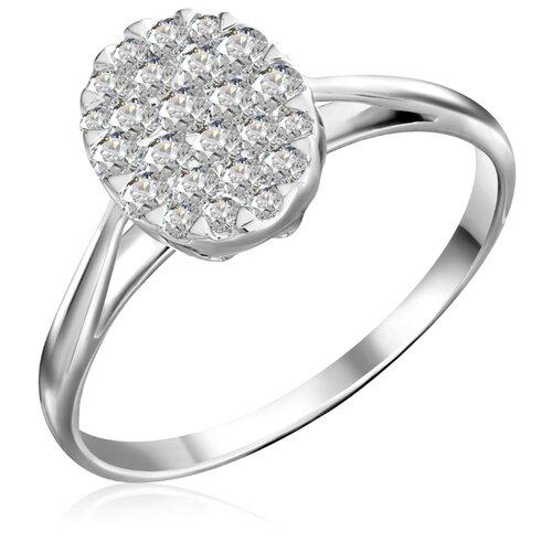 Бронницкий Ювелир Кольцо из белого золота R 0056, размер 17 кольцо из золота r 61902