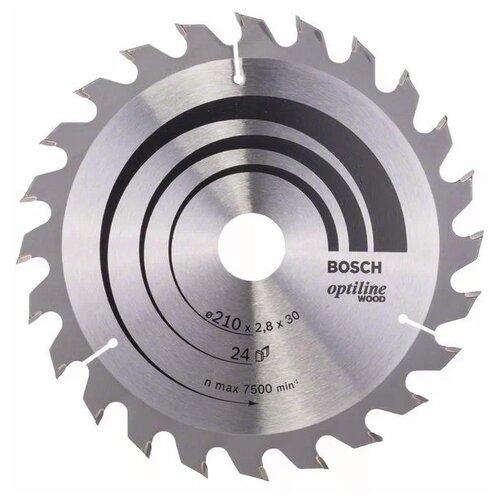 Пильный диск BOSCH Optiline Wood 2608640621 210х30 мм диск пильный bosch 2609256812 170x20 16 24 stand
