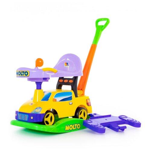 Каталка-качалка Molto Пикап (63083 / 63090 / 63106) со звуковыми эффектами желтый каталка игрушка molto утёнок с ручкой 7925 со звуковыми эффектами желтый зеленый красный