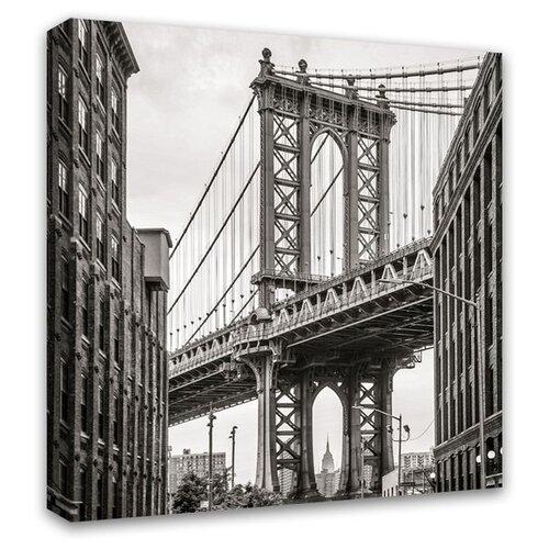 Картина Симфония Бруклинский мост 30х30 см