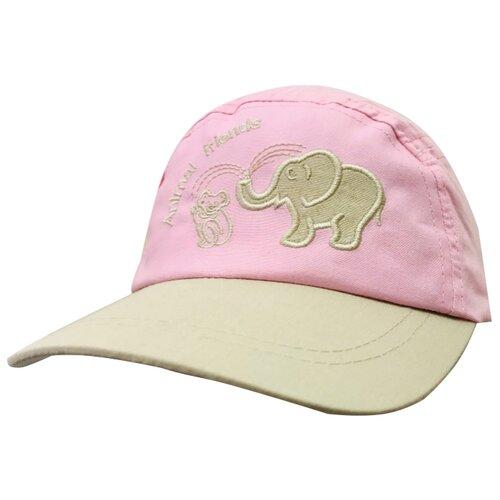 Купить Бейсболка Be Snazzy размер 46, светло-розовый/бежевый, Головные уборы