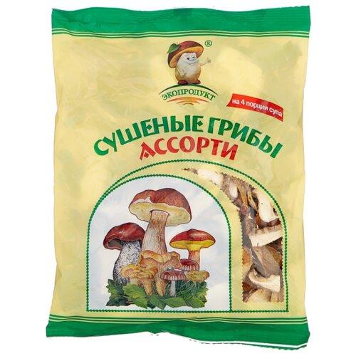 Экопродукт Грибы ассорти резаные сушеные, флоу-пак (Россия) 50 г пудовъ томаты сушеные резаные 100 г