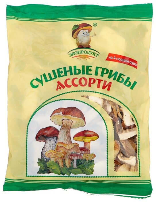 Стоит ли покупать Экопродукт Грибы ассорти резаные сушеные, флоу-пак (Россия) 50 г - 14 отзывов на Яндекс.Маркете (бывший Беру)