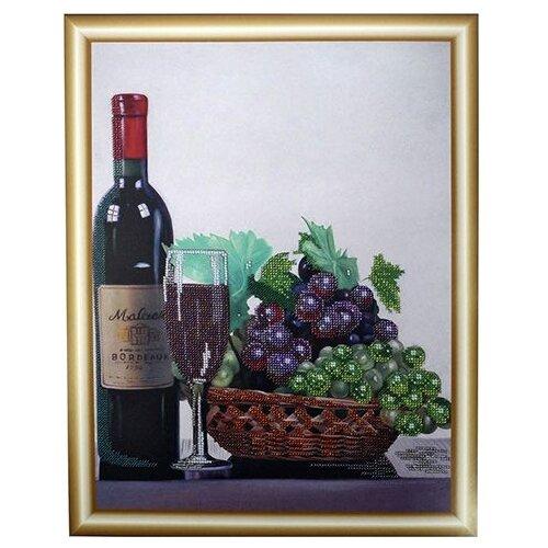 Купить Hobby & Pro Набор для вышивания бисером Натюрморт с виноградом 30 х 40 см (БН-3120), Наборы для вышивания