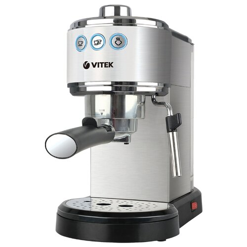 Фото - Кофеварка рожковая VITEK VT-1515, серебристый кофеварка vitek vt 1503
