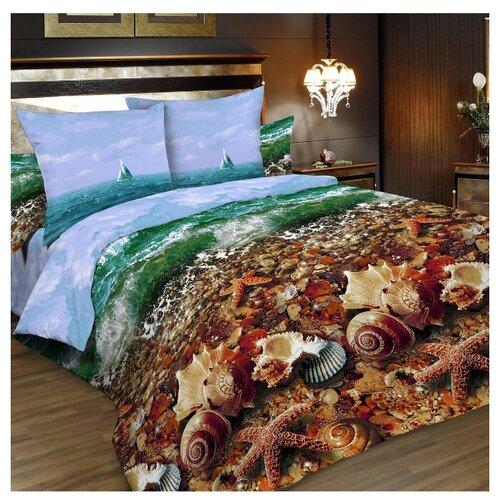 Постельное белье 2-спальное Letto B196 70x70 см, бязь голубой/коричневый letto детское постельное белье 3 предмета letto машинки голубой