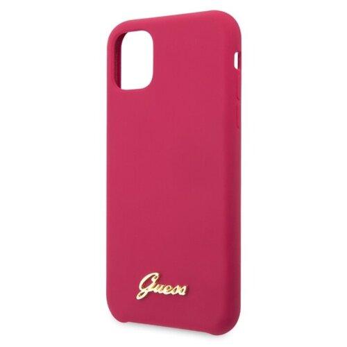 Купить Чехол CG Mobile Guess Silicone collection Gold для Apple iPhone 11 burgundy